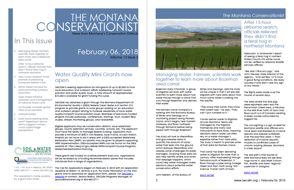 The Montana Conservationist February 6